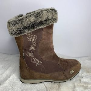 The North Face Suede And Fur Boots Womens Size 7